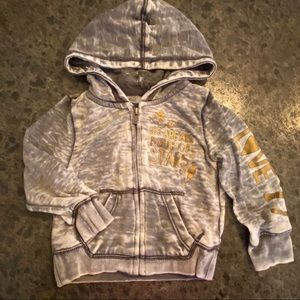 American Eagle 18-24mo Burnout Zip-Up Hoodie